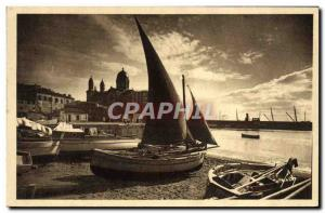 Old Postcard Saint Raphael Port and Our Lady of Victory Ship