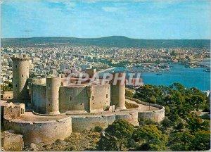 Postcard Modern Palma majorca castle beliver