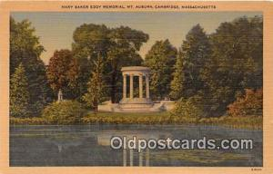 Churches Vintage Postcard Cambridge, Mass, USA Vintage Postcard Mary Baker Ed...