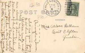 Primghar Iowa~The Hub Hotel~Rocking Chair on Porch~Basement Rails~1913 RPPC