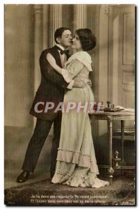 Postcard Old Couple Fancy I read in your looks fervent tenderness