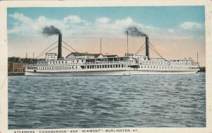BURLINGTON, Vermont, 1900-10s; Steamers TICONDEROGA & VERMONT