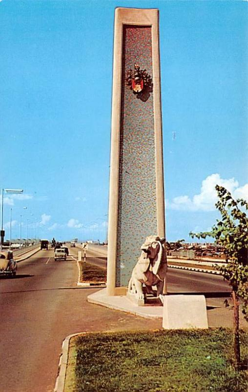 Singapore Old Vintage Antique Post Card Merdeka Bridge Unused