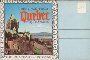 letter card greetings from Quebec Canada