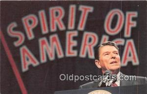 Postcard President Reagan
