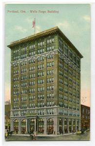Wells Fargo Building Portland Oregon 1910c postcard
