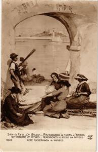 CPA Salon de Paris 4964 CH. BAUDE - RAVAUDEUSES DE FILETS Á ENTIBES (215792)