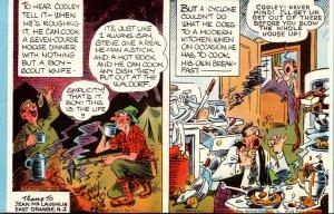 Mutoscope Card Humour Comics King Features Man Enjoying Food