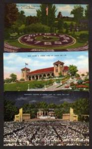 MO Lot 5 Forest Park ST LOUIS MISSOURI Postcards PC