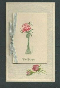 Ca 1907 Post Card Greetings W/Added Piece On Top W/Message