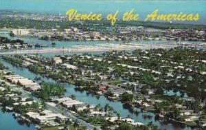 Florida Fort Lauderdale Aerial View Of Island Homes