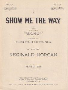 Show Me The Way Reginald Morgan Olde Sheet Music