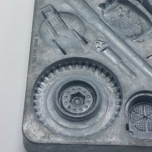 1965 Thingmaker Fighting Men Mold 4481-054-A Star Tire Gun Mount Tank Hatch