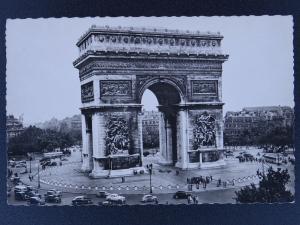 France Paris LA PLACE DE l'ETOILE / ARC DE TRIOMPHE c1950s RP Postcard by E.R.
