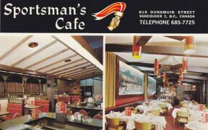 2-views, The Sportsman's Cafe, Vancouver 2, B.C., Canada,  40-60s