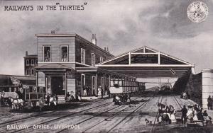 LIVERPOOL, England, United Kingdom, PU-1905; Railway Office