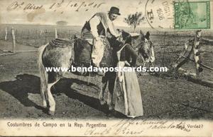 argentina, Costumbres de Campo en la República (1906) R. Rosauer, No. 639