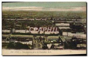 Old Postcard Lyon Vue Generale Taking Fourviere