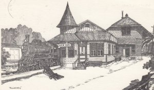 NEW HOPE , Pennsylvania , 1969 ; Train at Railroad Depot
