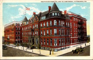 Pennsylvania Pittsburgh South Side Hospital and Oliver Annex 1924 Curteich