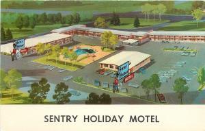 Helena Montana~Sentry Holiday Motel~Direct Dial Phone 1950s PC