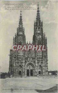 Old Postcard Our Lady of the Thorn Grand Portal Historic Monument