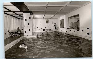 Hallenbad Hotel am See Altaussee Austria Pool Vintage Real Photo Postcard D09