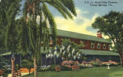 Hotel Villa Plumosa Tarpon Springs Fl 1955