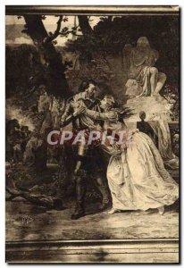 Old Postcard Tapestry Pau Du Chateau's farewell Gabrelle d & # 39Estrees