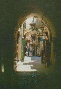 Jerusalem Jewish Six Station Of The Via Dallaroza Pottery Sign Postcard