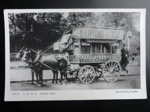 LONDON L.G.O.C. STAMFORD HILL HORSE BUS Pamlin Print Postcard No.M514