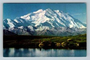 Mount McKinley / Denali AK-Alaska, North Scenic View Chrome Postcard