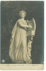Roma, Museo Vaticano, Apollo Citaredo, unused real photo Postcard
