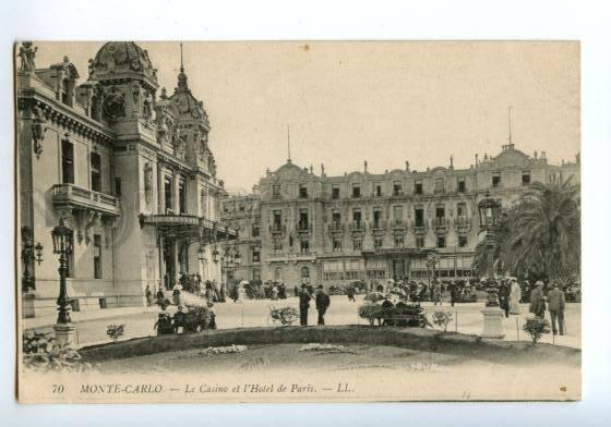 138522 Monaco MONTE-CARLO Casino & HOTEL de Paris Vintage PC