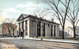 Bridgeport Connecticut~New City Hall~Long Downtown Street~1908 Langsdorf PC