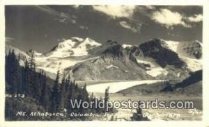 Canada Jasper Park Mt Athabasca Real Photo