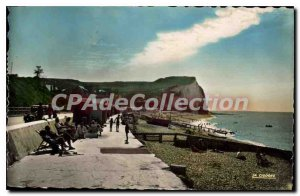Postcard Old Veulettes On The Beach And Cliff End