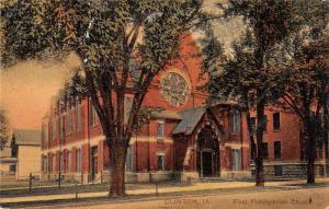 Clinton Iowa First Presbyterian Church Antique Postcard J59475