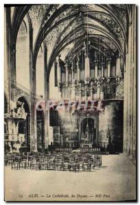 Old Postcard Organ Albi The Cathedral Organs