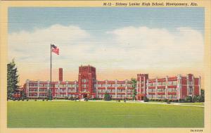 Alabama Montgomery Sidney Lanier High School Building Curteich