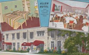 NASHVILLE, Tennessee, 40-60s; Mult-views, Allen Hotel