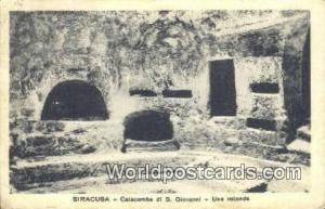 Siracusa, Italy, Italia Catacombe di S Giovanni, Una Rotonda Siracusa Catacom...