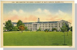 Columbia, SC Postcard, Sims Dormitory/University, Near Mint!