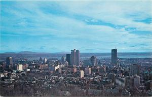 Montreal Quebec~Business Section & Skyline @ Mt Royal~1950s Postcard