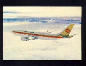Continental AirbusA300 Postcard, Built By Europe's Airbus Industrie