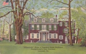 Pennsylvania Lancaster Wheatland Home Of President James Buchanan Curteich