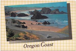 Oregon Coast, Beautiful Cape Sebastian, 1989 used Postcard