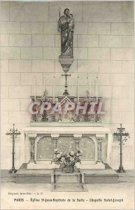 Old Postcard Paris Church of St. John the Baptist Chapel St. Joseph Hall