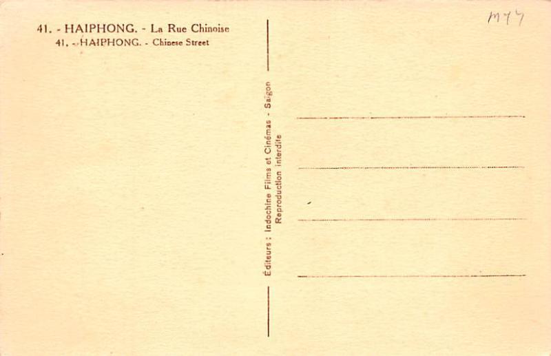 Haiphong Singapore La Rue Chinoise, Chinese Street Haiphong La Rue Chinoise, ...