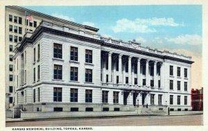 Kansas Memorial Building Topeka Kansas Vintage White Border Post Card